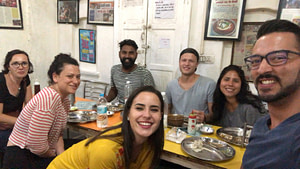 Group in an Indian Restaurant