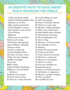 50 Creative Ways to Make Money While Traveling the World-blur ...