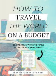how to travel the world full-time on a budget