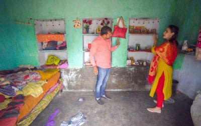 Inside a villagers home while Visiting Pushkar India