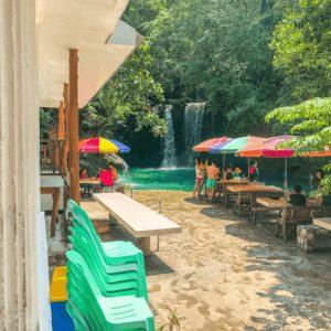 Hotel at Kawasan Falls in Cebu Philippines