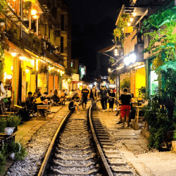 Train Street in Hanoi Vietnam