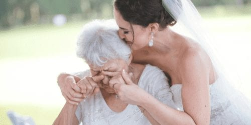 Woman with her grandmother on her wedding day digital nomad year in review