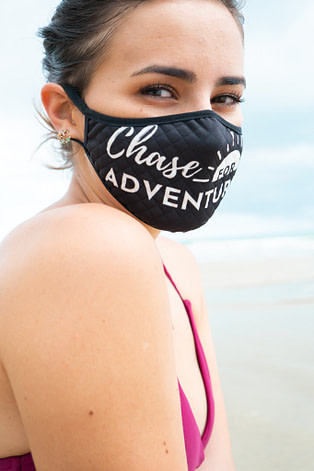 Chase for Adventure Travel mask in Black and White