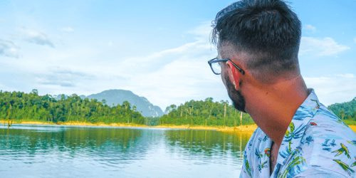Man living his dream life at Khao Sok National Park