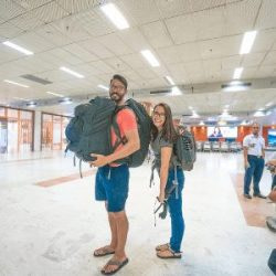 backpackers travel carry on only