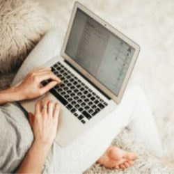 Blogger working one of the best location independent jobs