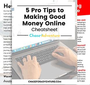 Make money online worksheet